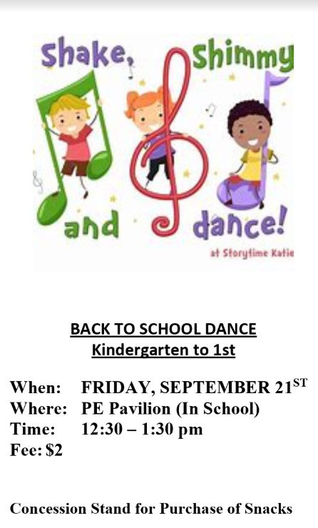 Back to School Dance (Kinder - 1st) @ PE Pavilion